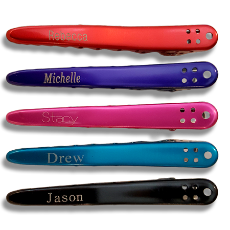 The Perfect Gift for the Holidays or Anytime, Our Best Selling Hair Clips with FREE Name Engraving